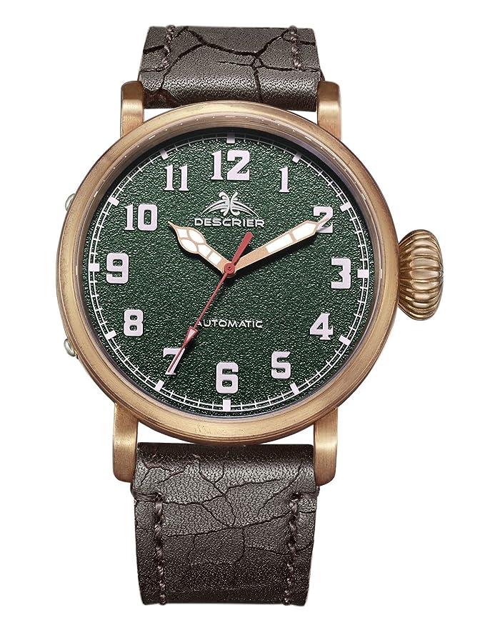 Amazon.com: Descrier Bronze CuSn8 Mens Watch Automatic Movt: Descrier: Watches