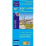 Top25 2739OT ~ Mont Lozere carte de randonnée avec une règle graduée gratuite