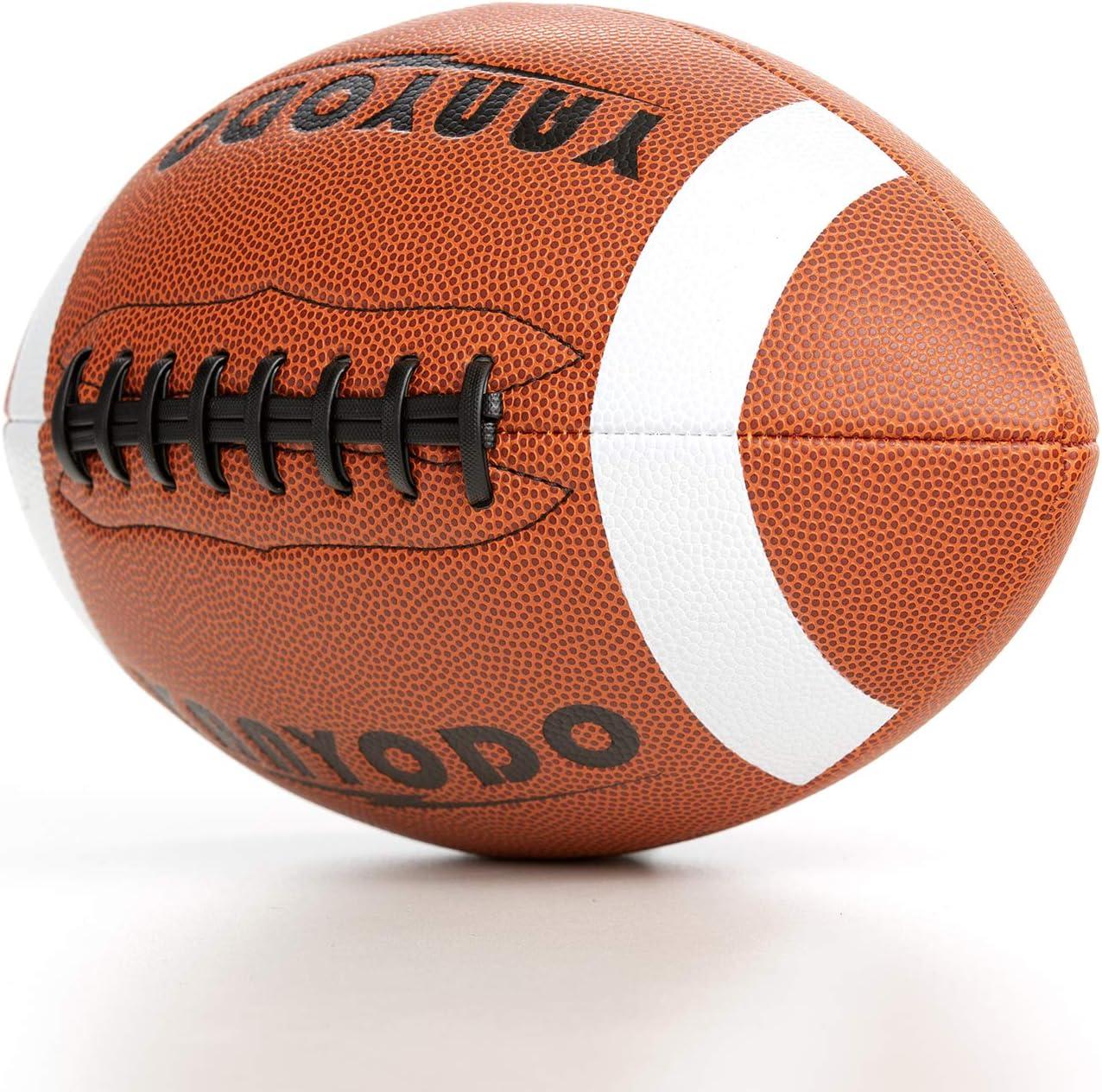 YANYODO Balón de fútbol Oficial tamaño 9, superagarre, Juego de Entrenamiento y recreación, Funda de Piel de Microfibra para la Escuela Secundaria de la Liga Juvenil, Negro (Black Lace): Amazon.es: Deportes y