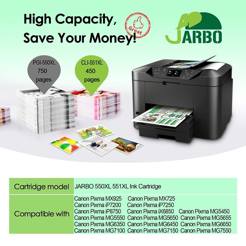 JARBO Cartuchos de tinta de alto rendimiento para Canon ...