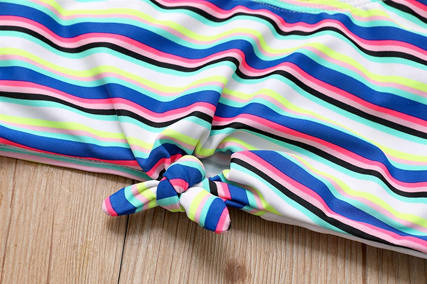 madows girls swimwear Swimsuit Two Pieces Blue Striped 6 16 Years Childrens Two Piece Swimming G1 CZ957