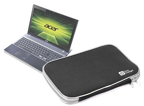 DURAGADGET Funda Negra De Neopreno Para El Ordenador Portátil Acer Aspire V3-571G-73638G75Makk