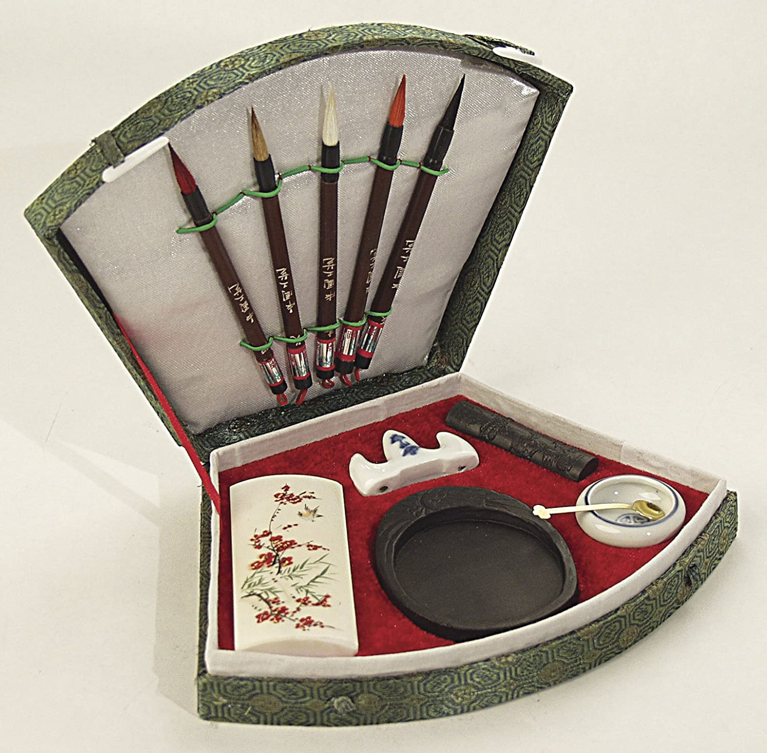 Art Advantage art-s8729 3 Piece Wolf Hair Sumi Brush set Set Sumi con pennelli e inchiostro, 6 pezzi S8752