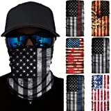 6 Pcs American Flag Face Mask-Seamless UV Protection Face Neck Gaiter Headwear
