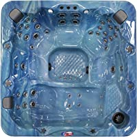 American Spas AM-756LP 6-Person 56-Jet Lounger Spa with Bluetooth Stereo System
