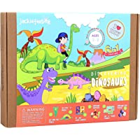 jackinthebox Dinosaur Themed Craft Kit and Educational Toy for Boys and Girls   6 Activities-in-1 Kit   Great Kids Aged…