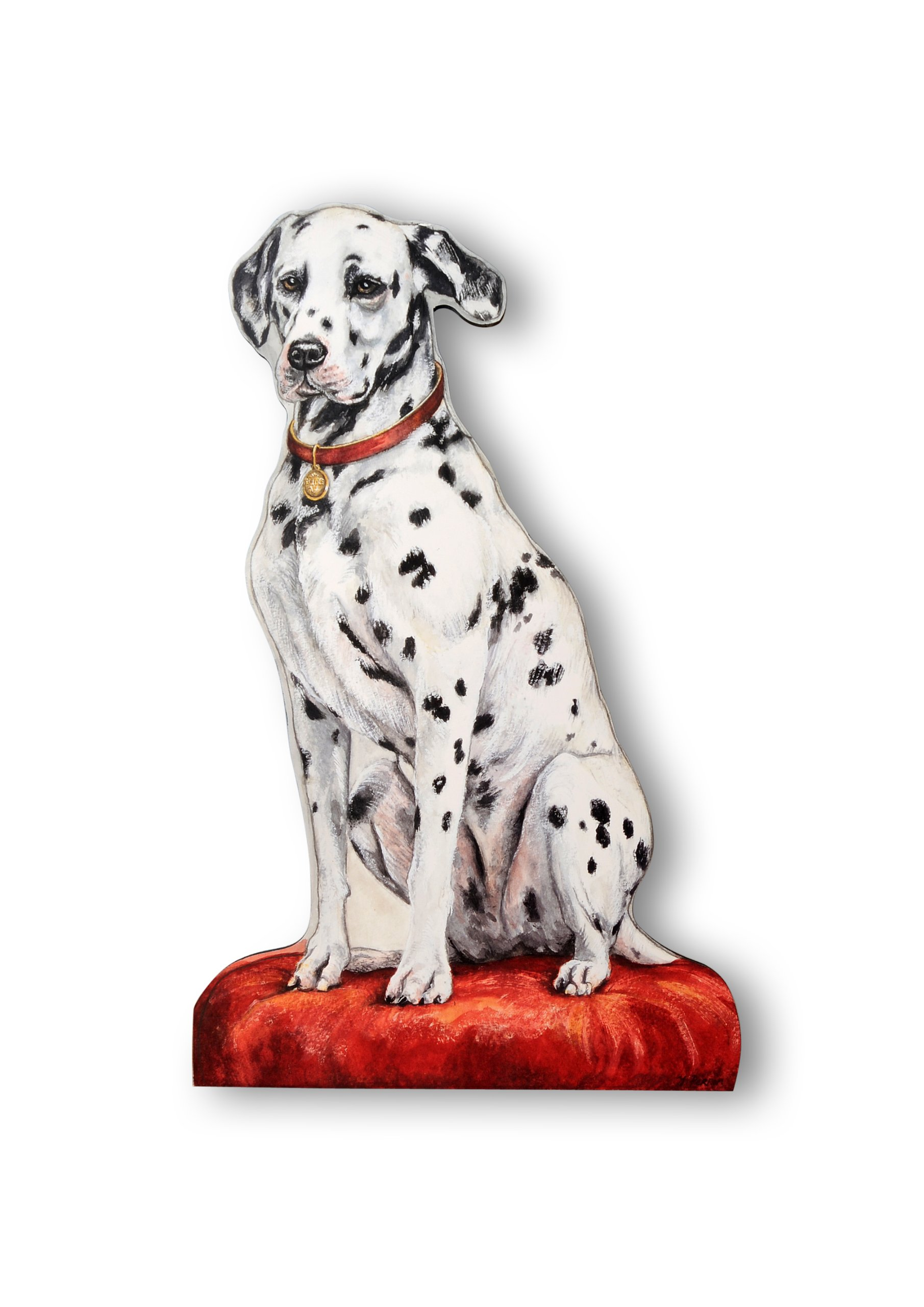 Stupell Home Décor Dalmatian Decorative Dog Door Stop, 18 x 0.5 x 17, Proudly Made in USA