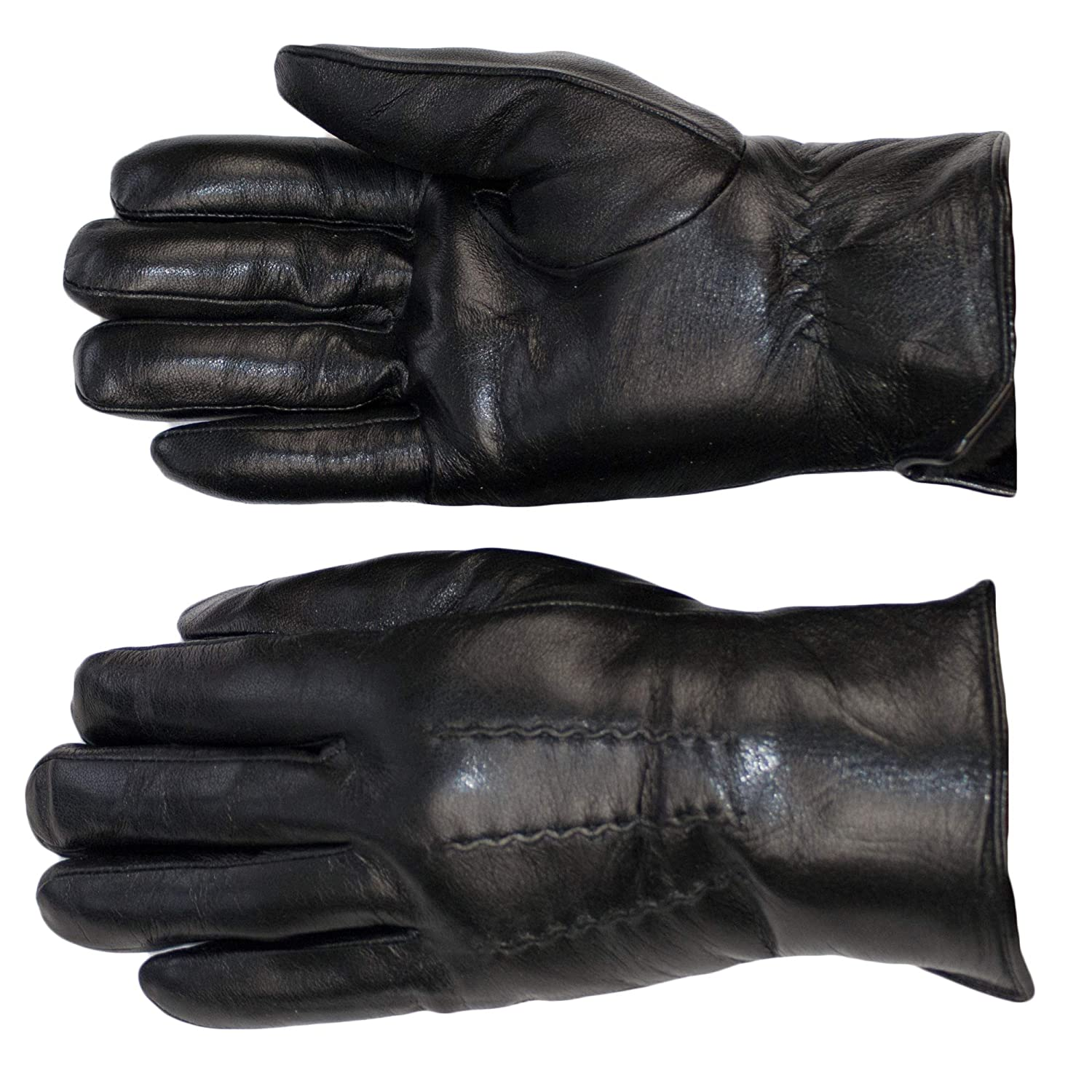 Dazoriginal Leather Gloves Mens Winter Gloves Wool Soft Black Leather EXTRATHICK