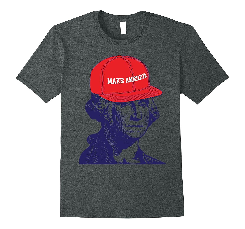 George Washington Make America 4th of July Funny T-Shirt