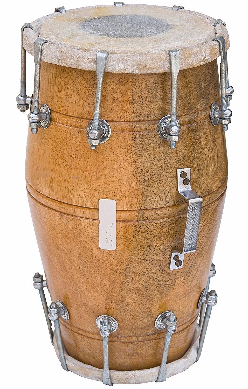 Dholak Drum, Mango Wood, Bolt-tuned, Padded Bag, Spanner, Dholki Musical Instrument