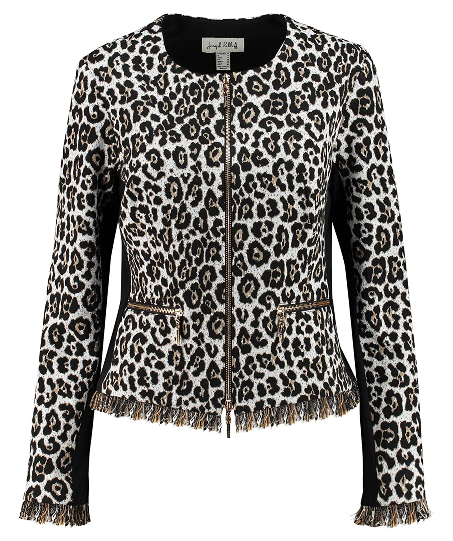 0cf8e15442e1 Amazon.com: Joseph Ribkoff Print Jacket with Zipper: Clothing