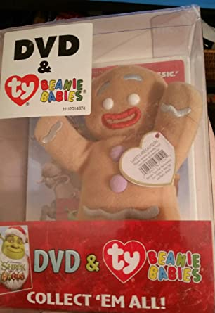 de8e685bcb9 Image Unavailable. Image not available for. Color  SHREK THE HALLS- DVD    TY BEANIE BABIES- GINGERBREAD MAN