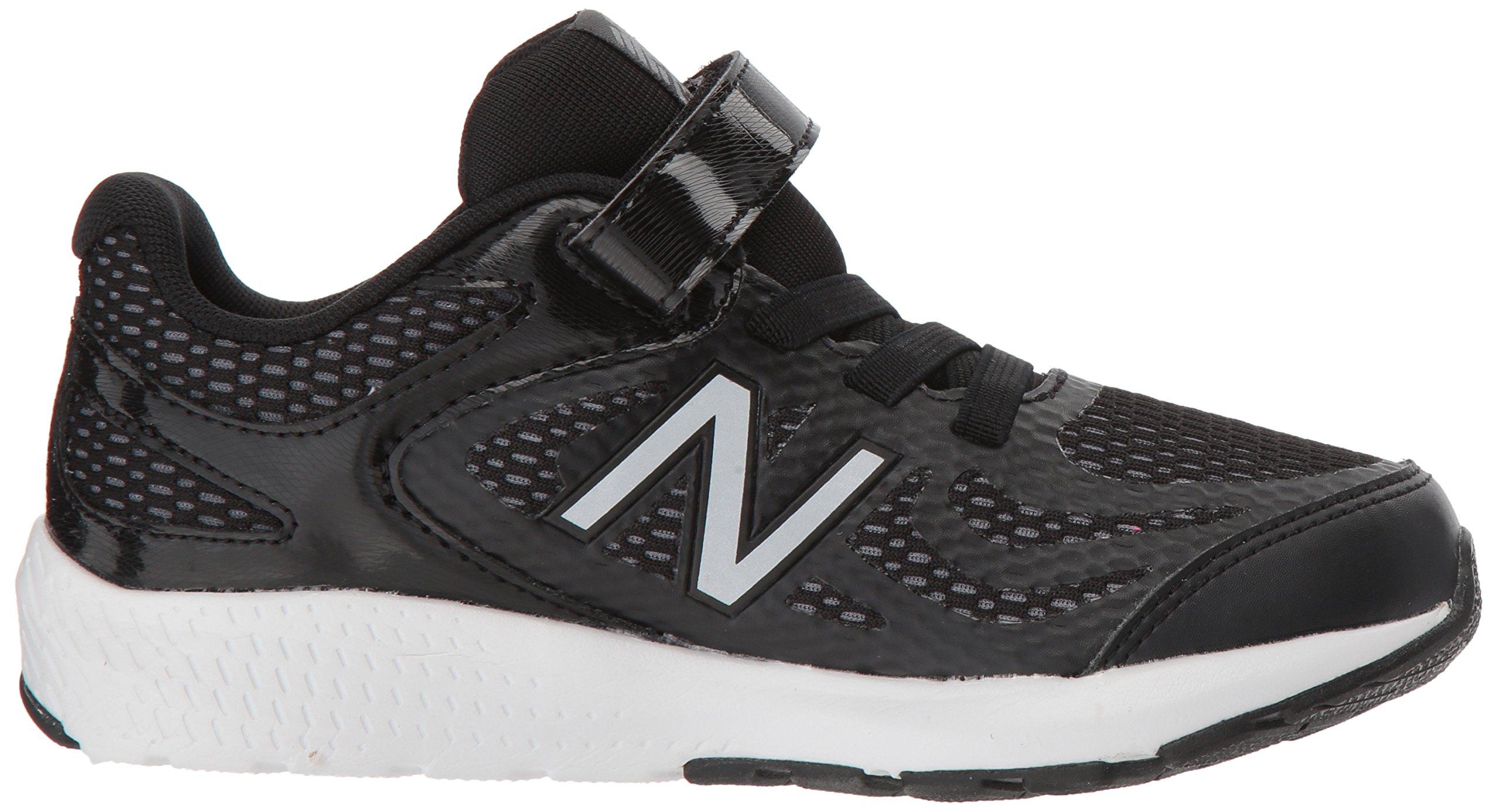 New Balance Boys' 519v1 Hook and Loop Running Shoe Black/White 2 M US Infant by New Balance (Image #7)