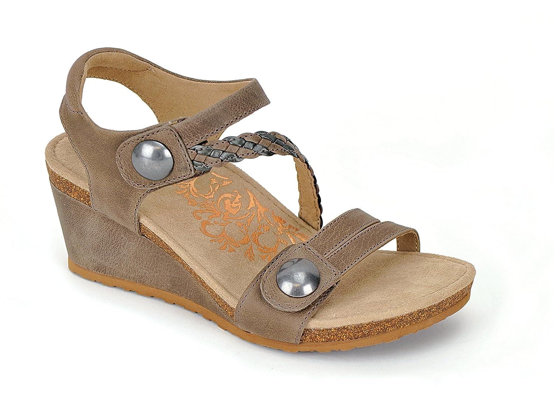 Aetrex Womens Naya Adjustable Wedge, Stone B01M0OQBFT 38 M EU