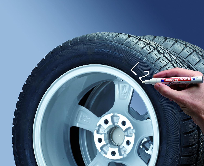 edding e-8050-1-4049 - Marcador para neumáticos, color blanco: Amazon.es: Oficina y papelería