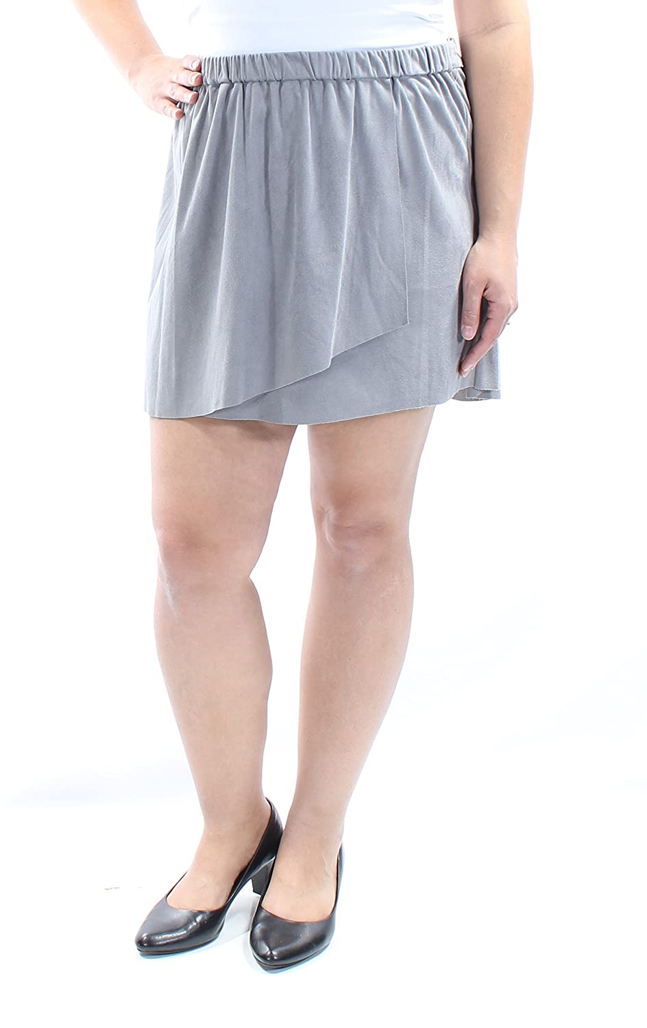 a0791ea12 kensie Stretch Faux Suede Mini Skirt at Amazon Women's Clothing store: