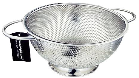 Buckingham – Escurridor de Acero Inoxidable Micro Perforado colador para arroz Pasta para Espaguetis Pasta Verduras Frutas Cocina y Cocina Uso – 25,5 ...