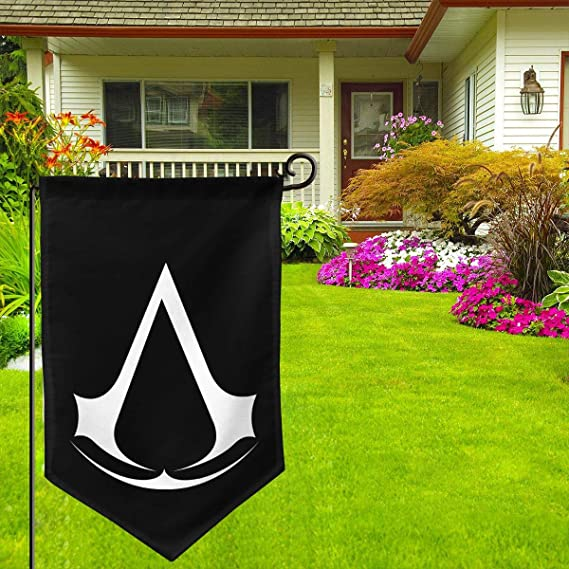 Needyo Assassin Creed Video Game Garden Flag 12.5 X 18 Vertical Double Sided Outdoor Decorative Home Garden Decor