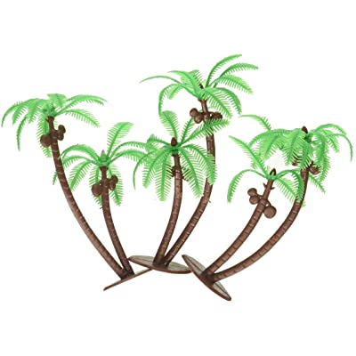 Palm Trees with Coconuts Cake/Cupcake Toppers - 12 pcs by Bakery Supplies: Toys & Games