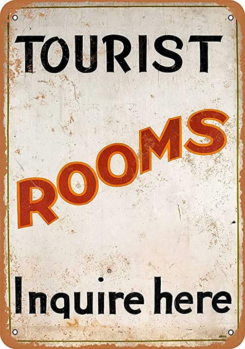Shunry Tourist Rooms Inquire Here Placa Cartel Vintage ...