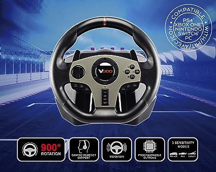 Volante de carreras V900 con pedales y palancas de cambio para multiplataforma: Amazon.es: Videojuegos