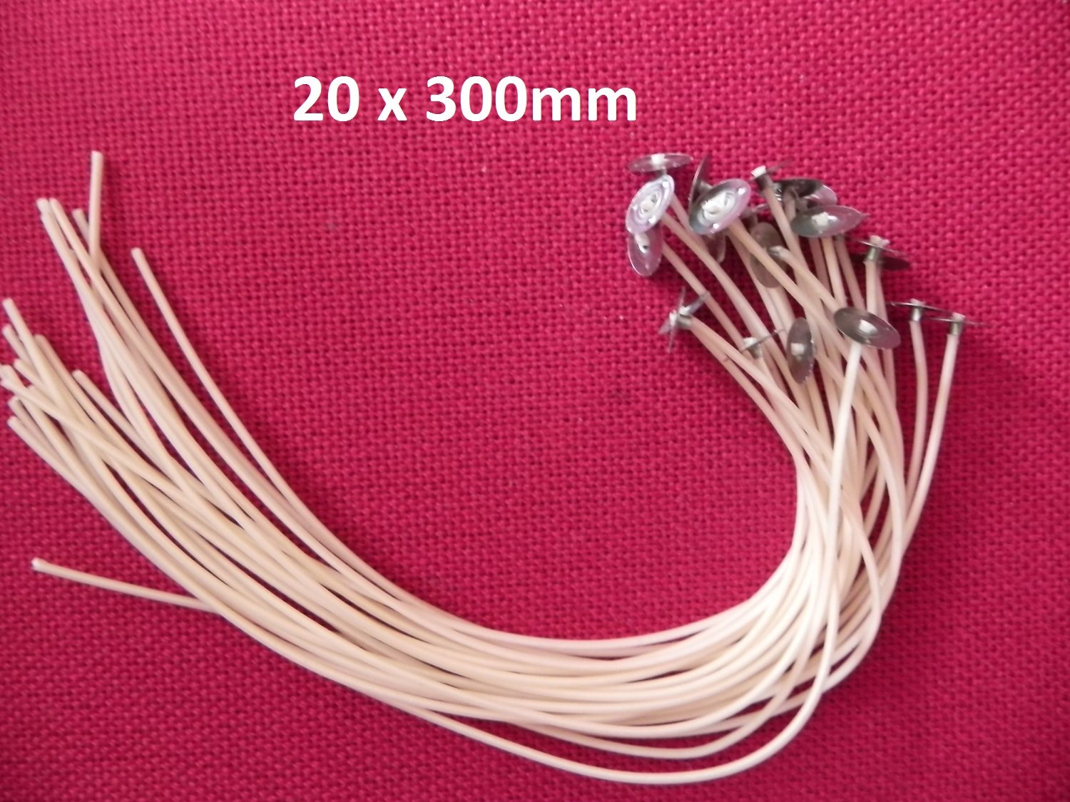 20 x 300mm Long Pre Waxed Wicks For Candle Making with sustainer`s Sola