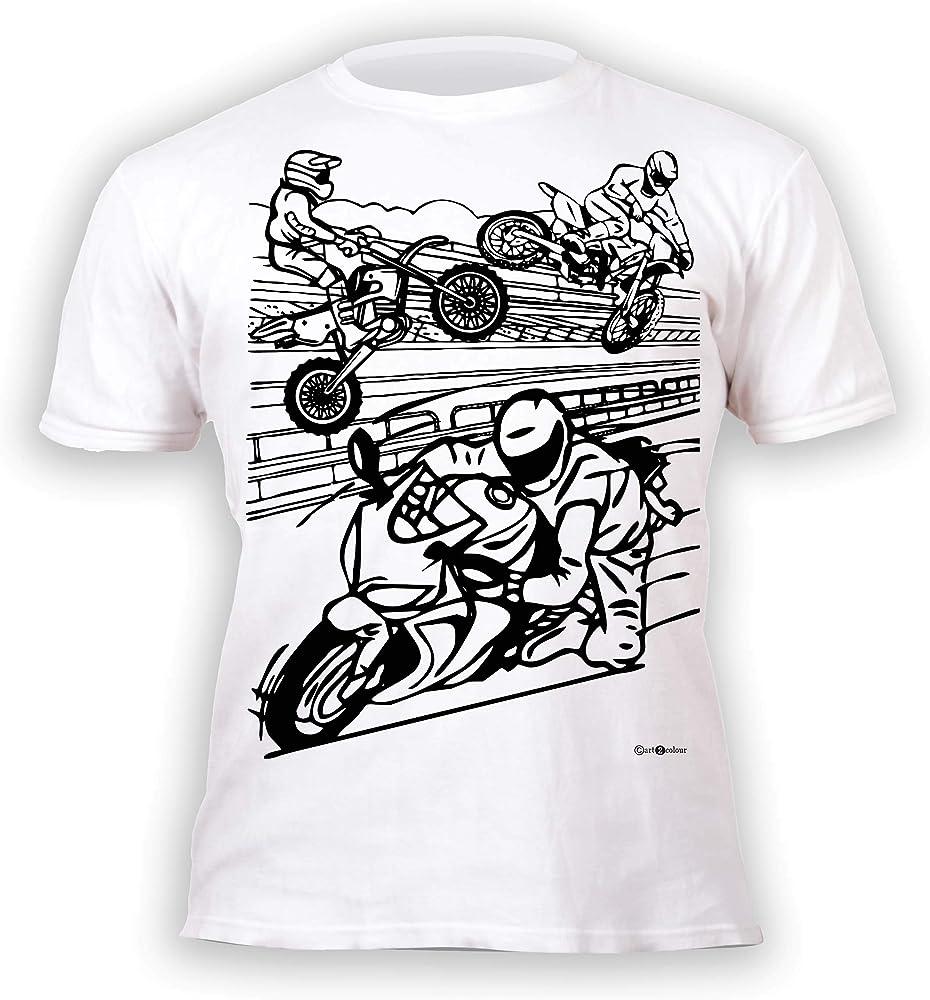 Splat Planet Camiseta Moto niño. con preimpresión para Pintar y ...