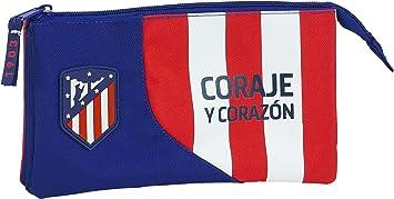 safta 812045744 Estuche portatodo Triple Escolar Atlético de Madrid, Multicolor: Amazon.es: Equipaje
