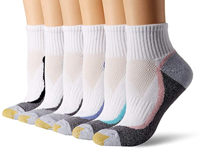 Gold Toe Women S Sport Half Cushion Quarter Socks 6 Pairs