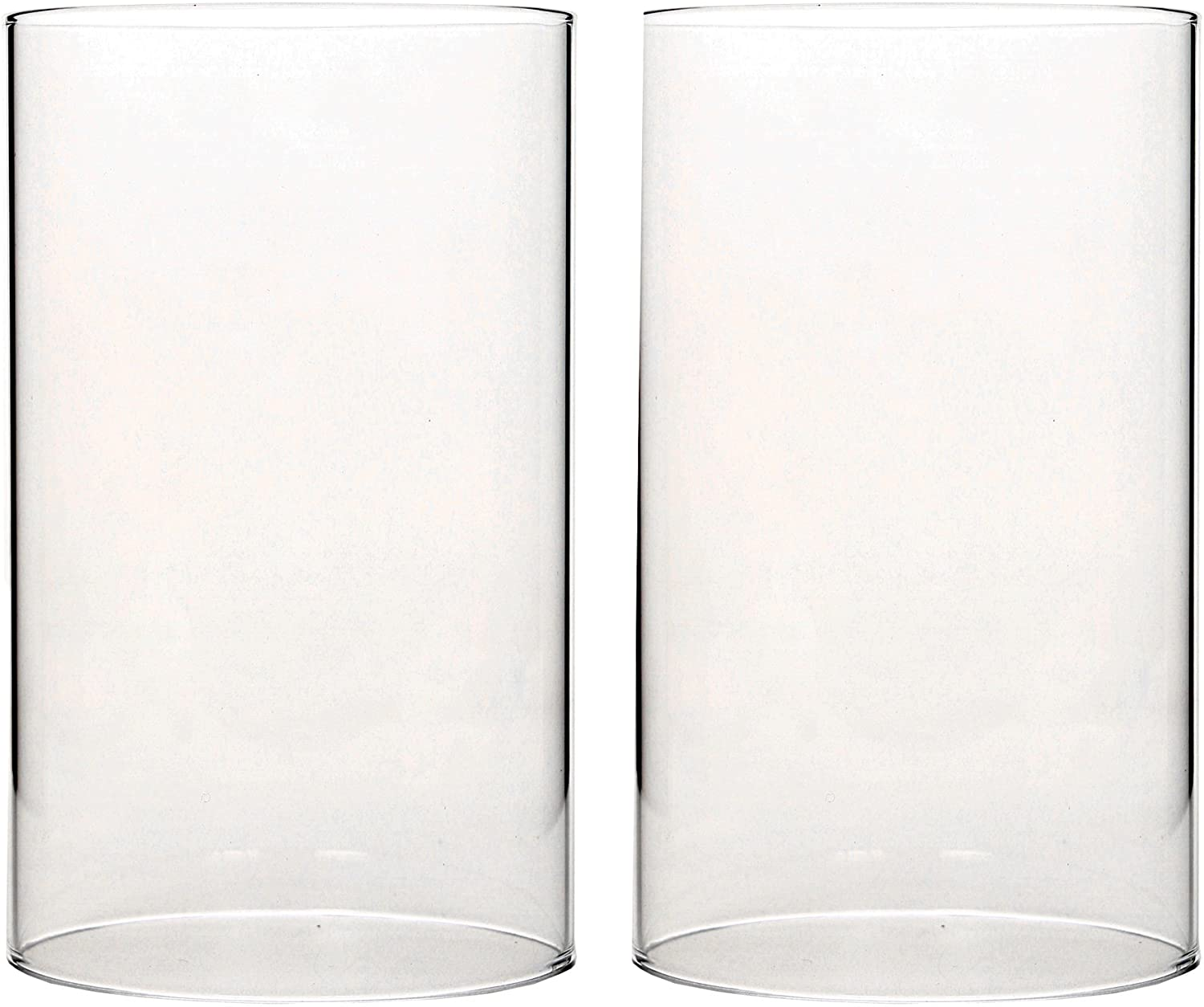 Hosley Set Of 2 7 Inch High Clear Glass Hurricane Candle Holder Or Sleeve Wonderful Accent Piece For Coffee Or Side Tables Ideal Gift For Weddings Home And Events O9 Kitchen