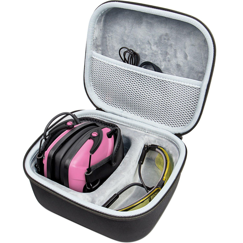 Awesafe Protection auditive électronique(avec Sac de Transport), Protège-Oreilles de sécurité, NRR 22 DB, Idéal pour Les tireurs et Hunting (Rose)