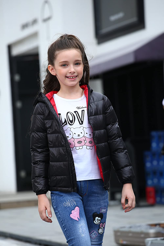 CHERRY CHICK Kids Ultralight Packable Hoodie Down Parka Jacket