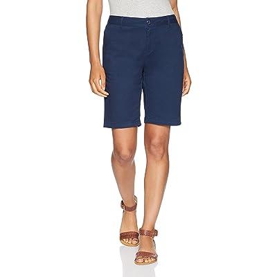 "Essentials Women's 10"" Inseam Solid Bermuda Short Shorts, -navy, 18: Clothing"