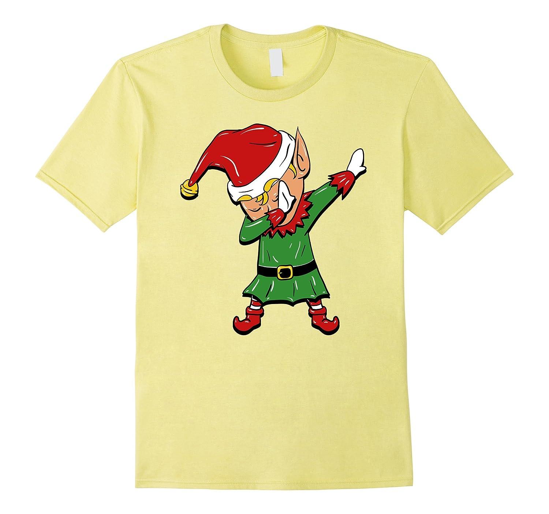 Dabbing Elf T-Shirt - Funny Christmas Elf Costume-ANZ - Anztshirt