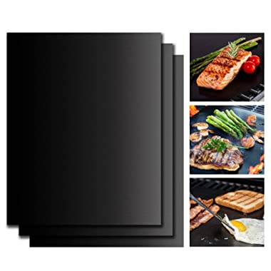 TastyHome Non-Stick BBQ Grilling Mats Non-Stick Oven Liner Premium Quality Baking Mat/Cookie Sheet, FDA-Approved, PFOA Free,Reusable and Easy to Clean 15.75 x 13 Inch, Set of 2