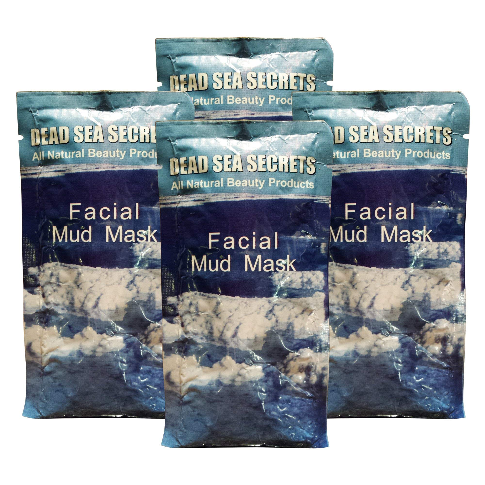 Premier Dead Sea Mud Mask, 4 Pack, Authentic from Israel Natural Organic Spa Quality Skin Care Mud and Minerals, Excellent for Acne Blemishes Eczema Psoriasis, Fantastic Anti Aging Firming and Lifting by DEADSEASECRETS