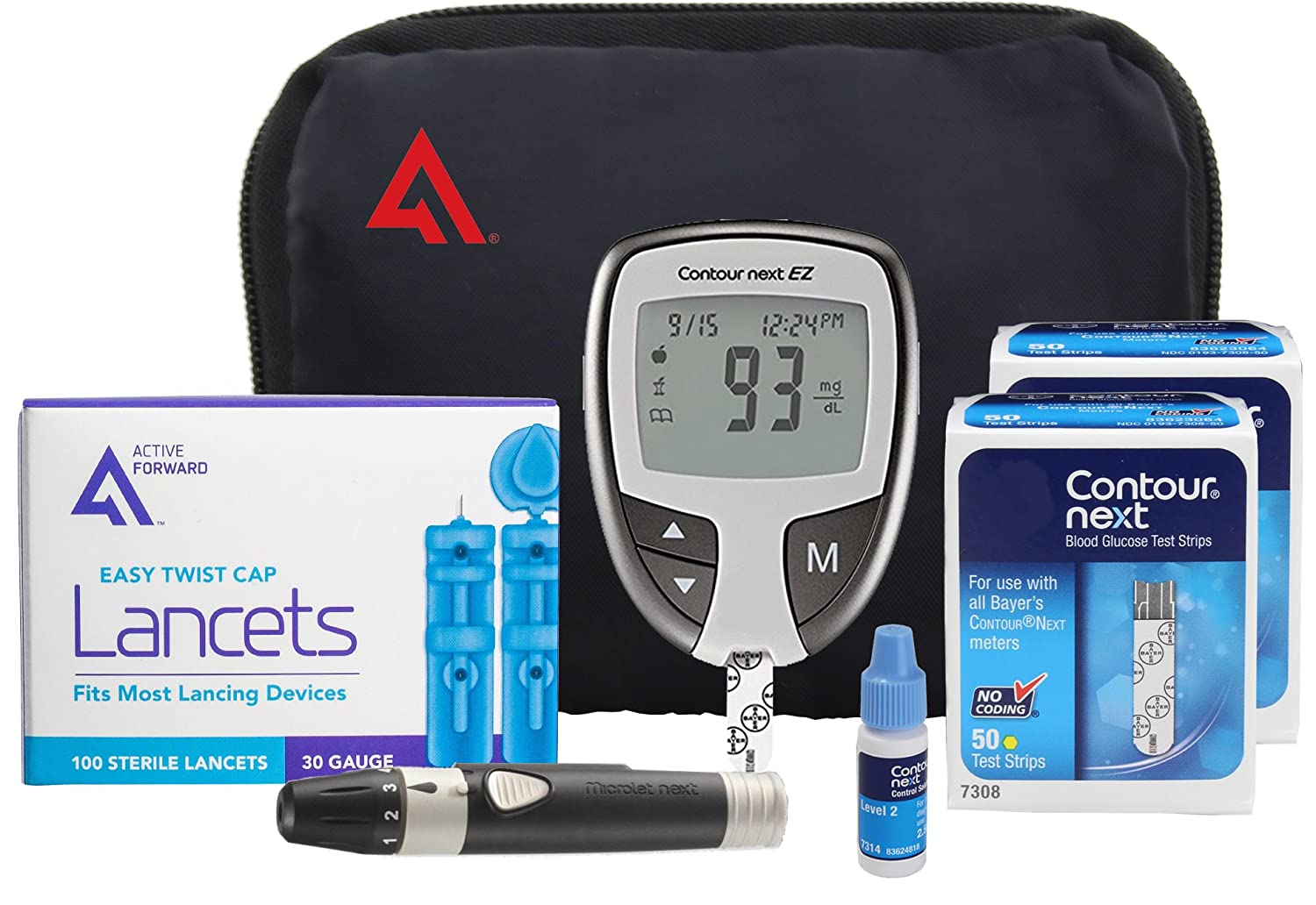 Contour NEXT EZ Diabetes Testing Kit | Contour NEXT EZ Blood Glucose Meter,