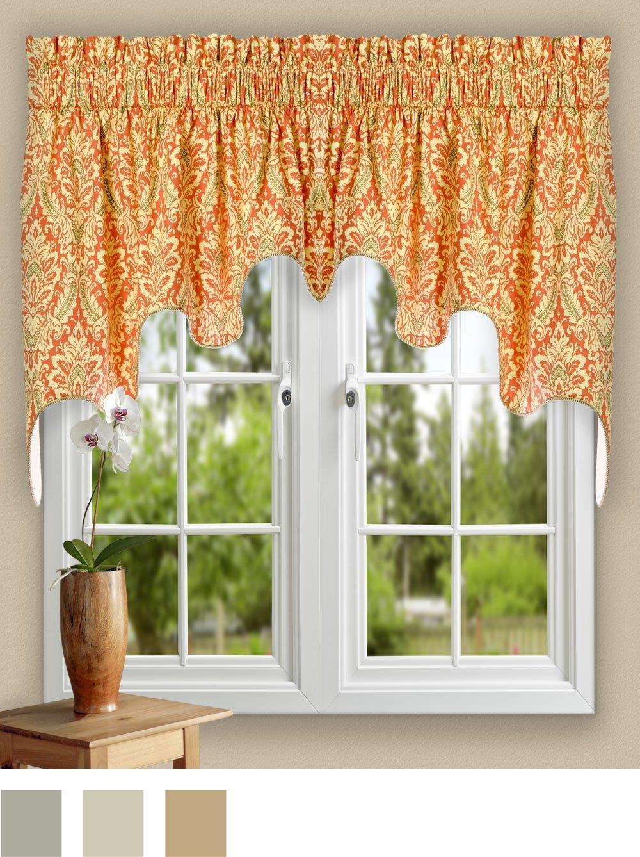 Ellis Curtain Donnington 50-by-15 Inch Lined Duchess Filler Valance Cornflower
