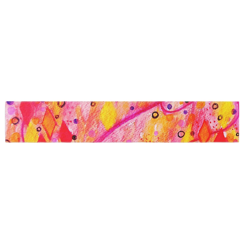 Kess InHouse EBI Emporium Into The Fall Orange Pink Table Runner