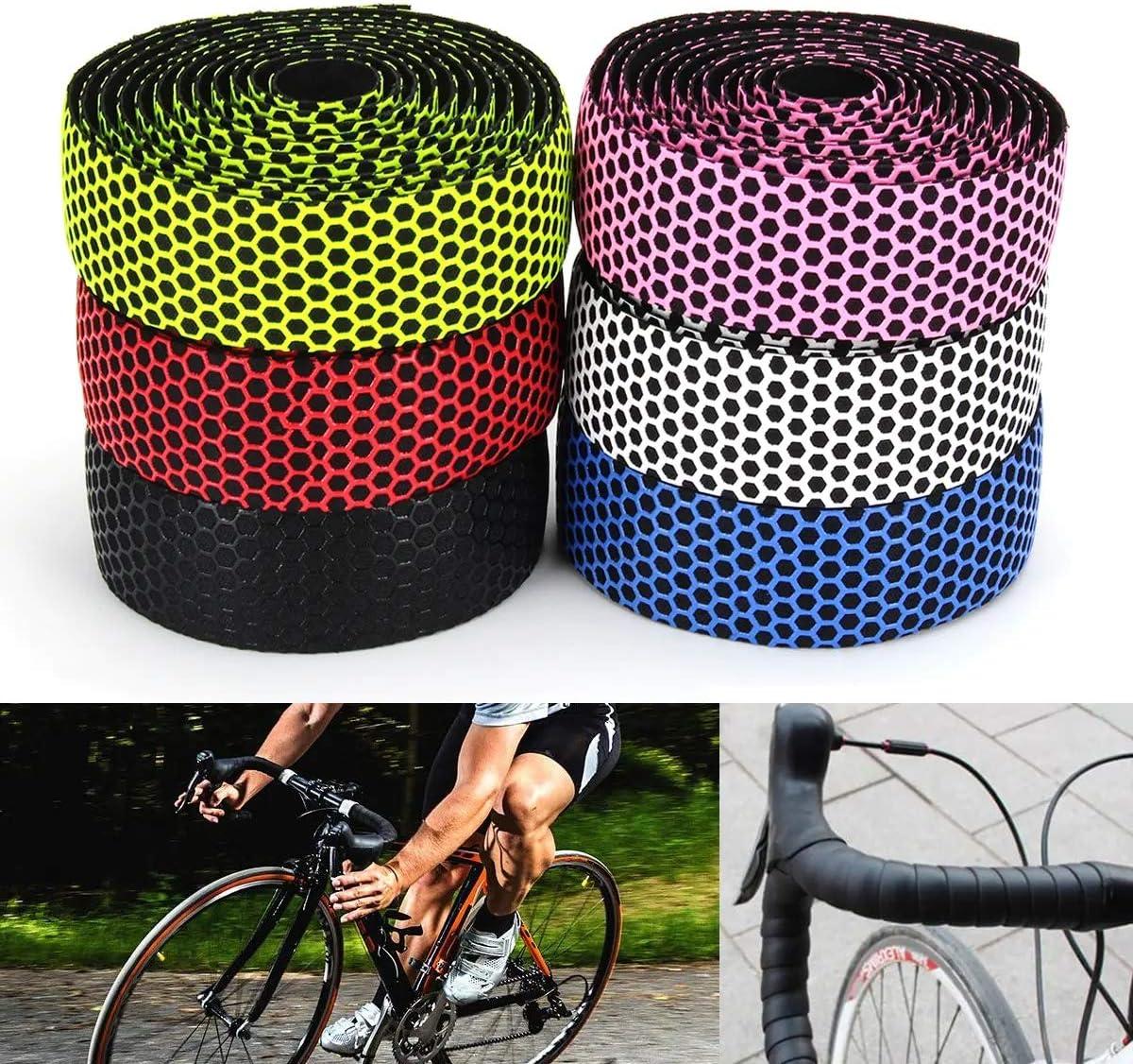 Handlebar Tape Bicycle Road Bike Cycling Cork Grips Wrap Ribbon Tape /& Bar Plugs
