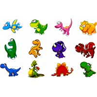 Oblique Unique® Dino Kinder Tattoo Set 24 Stück Kindertattoos Tattoo Verschiedene Motive Kinder Spielen