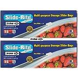 Slide-Rite Amit Marketing Multi-Purpose Storage Slider Bag, 30 Piece, 250 Ml, Clear, Set Of 2