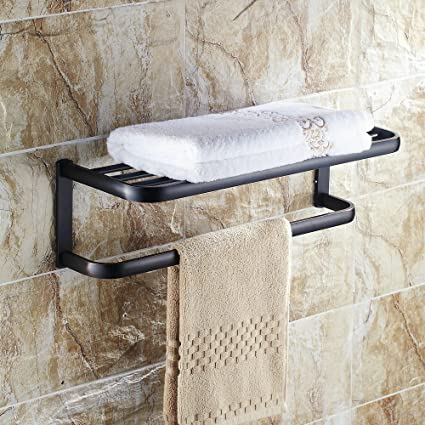 Amazon.com: Beelee BA7403B Oil Rubbed Bronze Bath Towel Holder Shelf ...