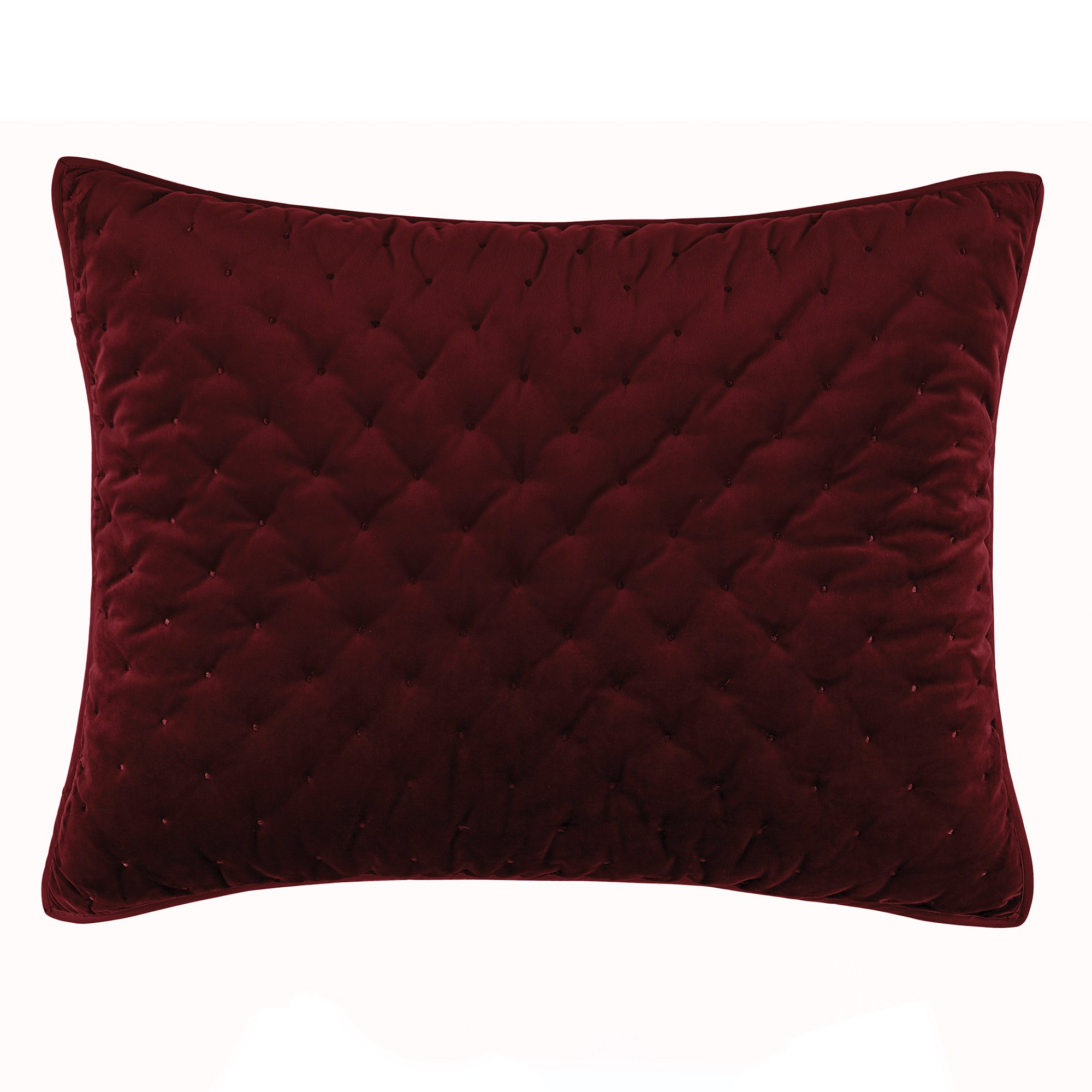 Croscill Carissa Standard Quilt Sham, Merlot
