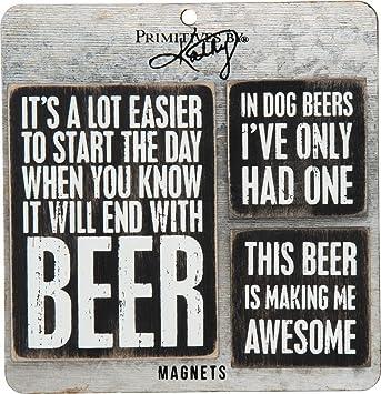 Amazon.com: Cerveza Imán Set, # 27488 de Primitives by Kathy ...