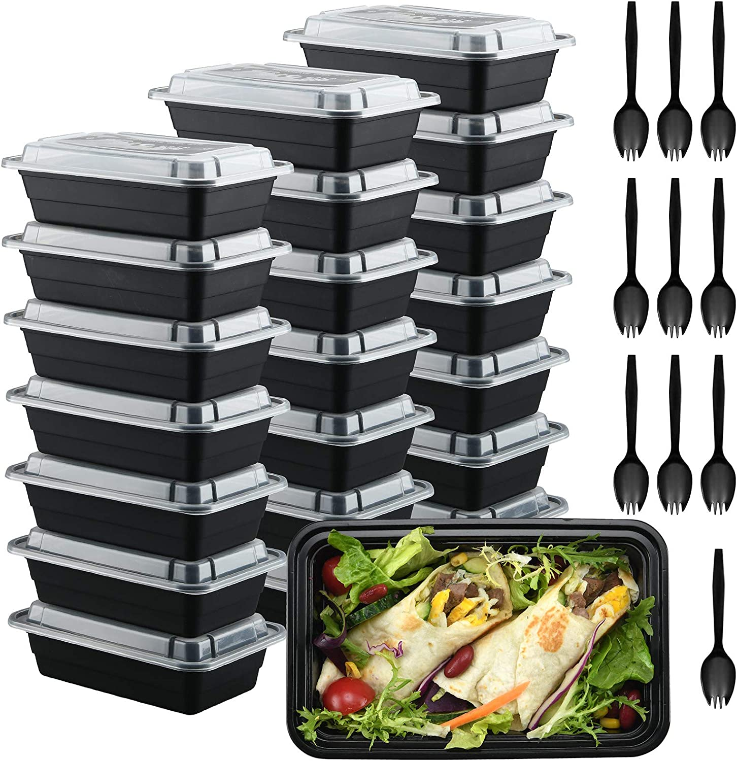 30 Pack Meal Prep Containers 28oz, Food Storage Containers with Lids Airtight, Disposable Food Container, Freezer Safe Food Box, Bento Box, Lunch Box, Reusable Deli Take outs Containers