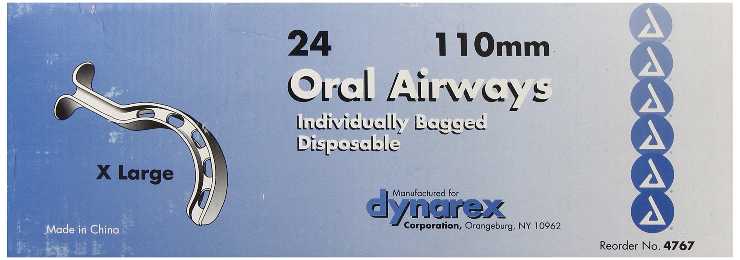 Dynarex Oral Airways (Berman Type) 110mm, X Large Orange 24-Bg/Bx by Dynarex