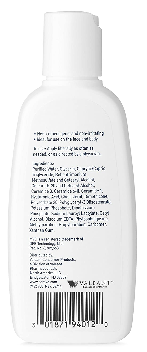 Amazon.com : CeraVe Moisturizing Lotion 3 oz Travel Size Face and ...