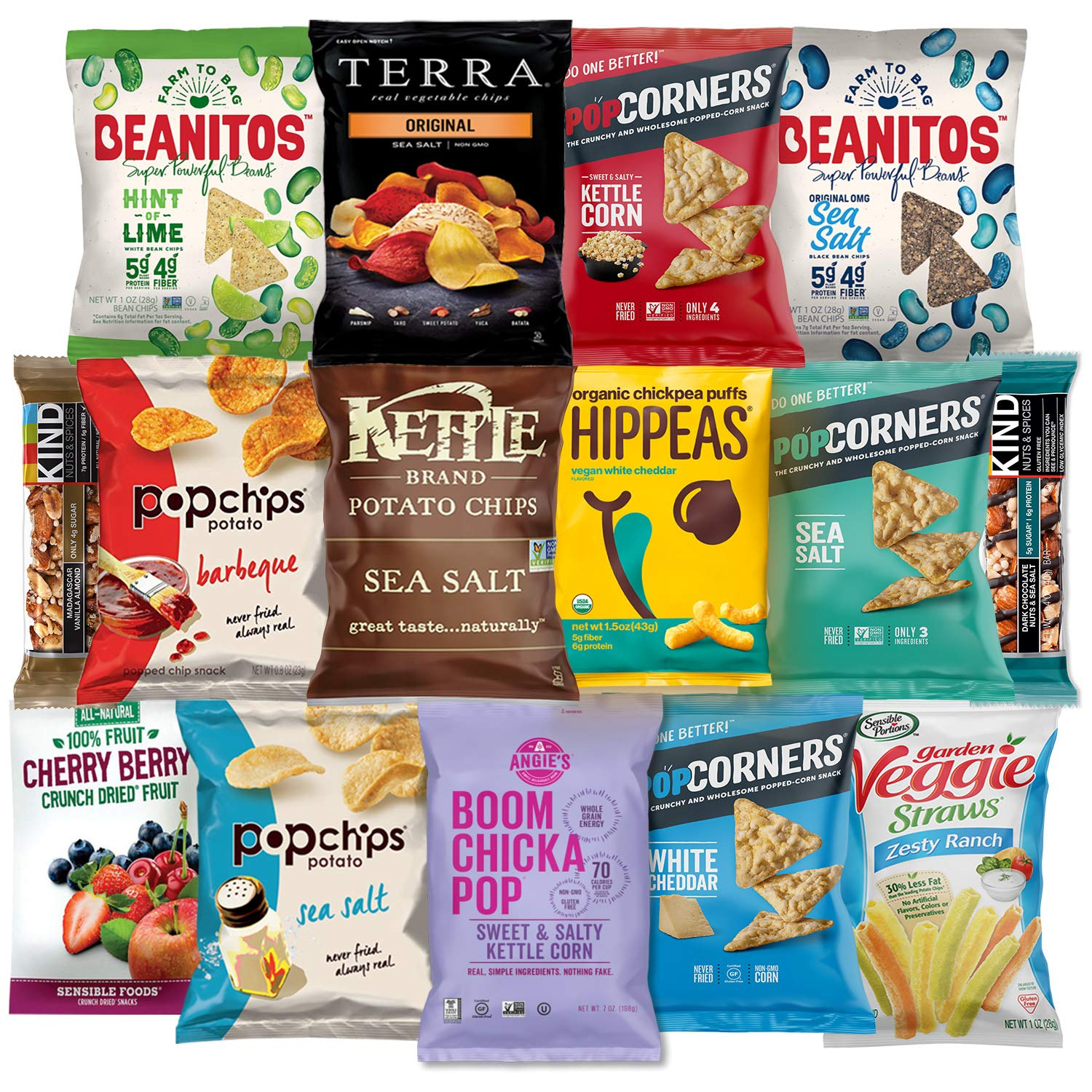 Premium NON GMO & Gluten Free Gourmet Healthy Snacks Gift Box Care Package Variety Pack (15 Count) by Variety Fun by Custom Varietea