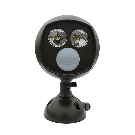 Coomatec Luz foco de LED 15000MCD ultra brillante de pilas con Inteligente Sensor de Movimiento para